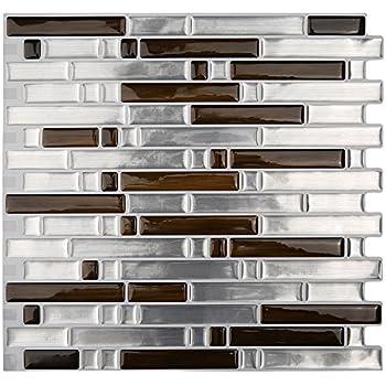 Magictiles Peel And Stick Kitchen Backsplash Tile Self Adhesive Vinyl 3d Wall Sticker 10 65 X10 6 Sheets