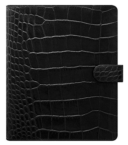 - Filofax Classic Croc Print Leather Organizer Agenda Calendar with DiLoro Jot Pad Refills (A5, Ebony 2019, 026071)