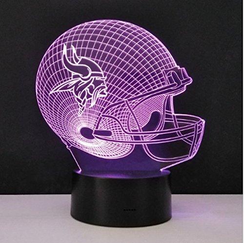 Football Helmet Table Lamp : Vikings lighting minnesota