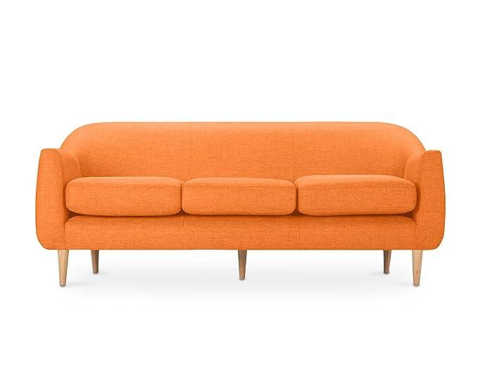 Private Floor Scandinavian Design Penny 3 Seater Linen Sofa ...