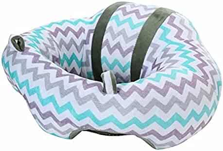 Teemo Baby Infant Safe Sitting Chair,Floor Seat Support Protective Pillow Cushion Sofa Plush Toys (7.Pattern Color)