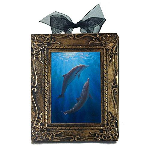 (Underwater Reef Hawaiian Art Dolphin Dance Ocean Ornament Hawaii Gift - Small Wall Art - Decor Print)