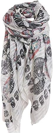 Foulard écharpe bandana tête de mort 1