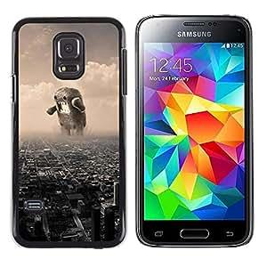 Caucho caso de Shell duro de la cubierta de accesorios de protección BY RAYDREAMMM - Samsung Galaxy S5 Mini, SM-G800, NOT S5 REGULAR! - Meme Internet Monster Japan Destroy