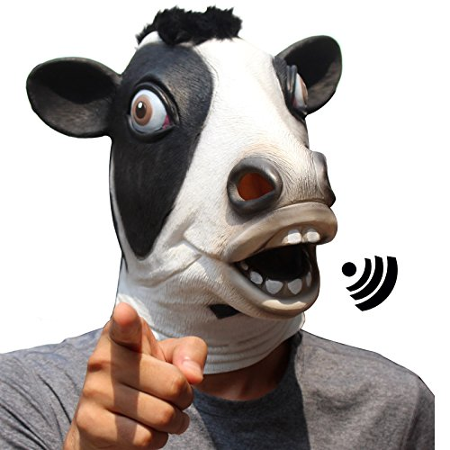 CreepyParty Deluxe Novelty Halloween Costume Party Latex Animal Mask Sounding Brown (Goofy Kids Costume)