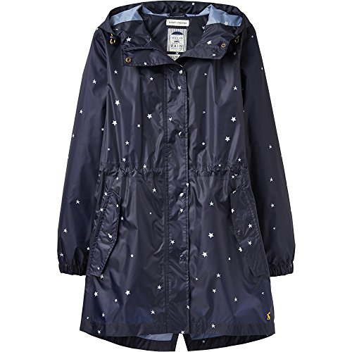 Navy Impreso EU40 Womens US8 Capa Packaway Impermeable French Golightly Star Joules z UK12 85W7qxf