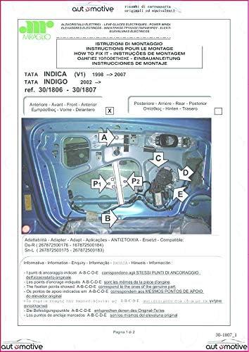 Proposteonline Alzavetro alzacristalli Elettrico Anteriore Sinistro Compatibile con Tata Indica dal 1998 al 2007 02244