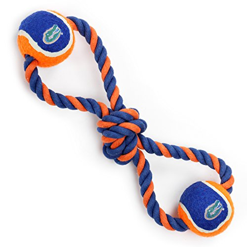 UPC 732757860360, Pet Goods Manufacturing Florida Gators Double Ball with Dog Toy Rope