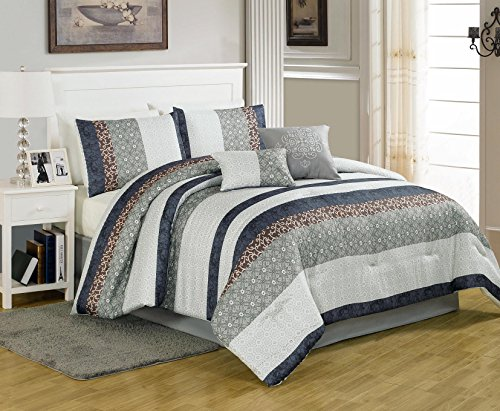 Textiles Plus 6 Piece Metropolitan Comforter Set, Queen