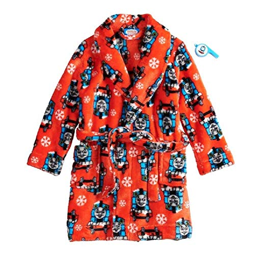 Thomas The Train Snowflake Holiday Robe with Whistle- Toddler Boy (3T)