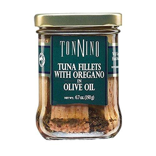 Tonnino Tuna Filet,Oregano/Olvoi 6.7 Oz (Pack Of 6)