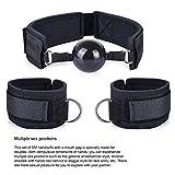 FFF Restraint Kits Mouth Ball Gag Adjustable Handcuffs Silicone Ball Novelty Flirt Toy