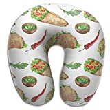 Pattern Food With Mexican Food Memory Foam Neck Support U-shaped Neck Pillow