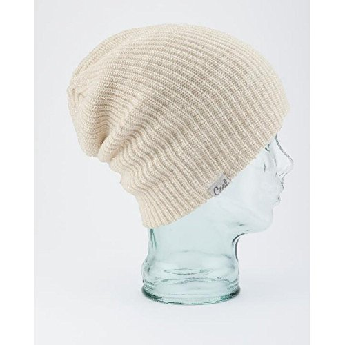 Coal Women's The Hailey Mohair-Blend Ribbed Beanie with Sparkles, White, One Size -