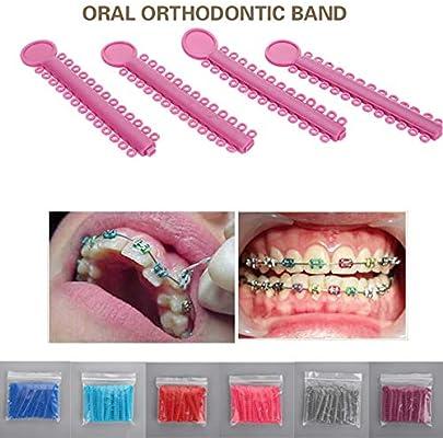 CXZC Conveniente Corbatas De Ortodoncia Dentales Bandas De ...