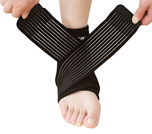 Foot Guard (Nonslip Breathable Ankle Brace with Adjustable Compression Wrap Support Foot Stabilizer for Arthritis, Injury Recovery, Joint Pain, Ankle Sleeve Guard for Sports Basketball, Football, Soccer, Running)
