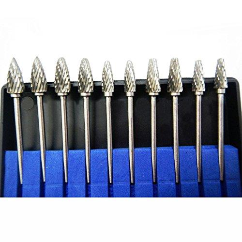 Solid Carbide Burr Set Tungsten Carbide Rotary Files Burrs 3mm Cutting Head YC