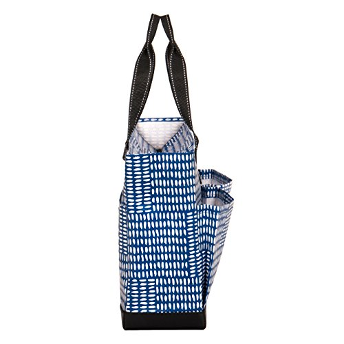 SCOUT Uptown Girl Multi-Pocket Zip-Top Tote, Bulldog Blue, 16 by 12 by 5-1/2 Inches