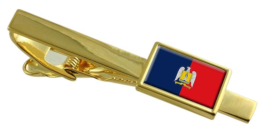 ヴァルパライソの港市チリの国旗金タイクリップ刻印されパーソナライズされた   B071RCFHVJ