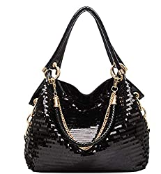 Patent Leather Large Chain Handbags for Ladies