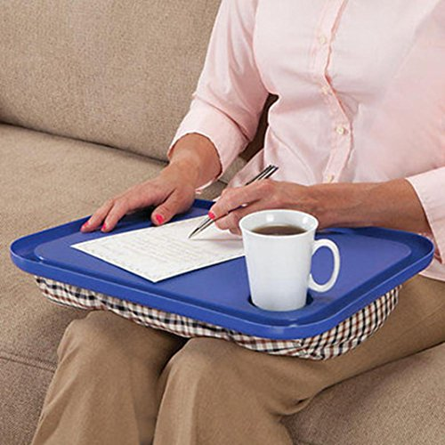 Lap Desk For Laptop Chair Homework Writing Portable Dinner Tray for Student Studying -17'' x 13'' x 2 1/2''(LxWxH) by Fheaven
