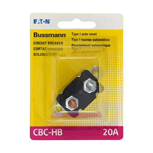 (Bussmann (BP/CBC-20HB-RP) 20 Amp Type-I Stud Mount Circuit Breaker with Lengthwise Bracket)