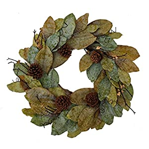 "Mills Floral Forest Magnolia Wreath - 24"" 31"