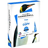 Hammermill Paper, Copy Paper Poly Wrap, 20lb, 8.5 x 11, Letter, 92 Bright, 500 Sheets / 1 Ream (180400R) Made In The USA