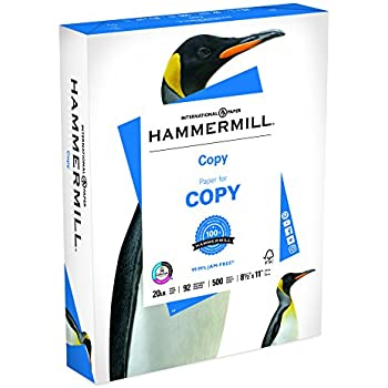 Hammermill Paper, Copy Paper Poly Wrap, 8.5 x 11 Paper, Letter Size, 20lb Paper, 92 Bright, 1 Ream / 500 Sheets (180400R) Acid Free Paper