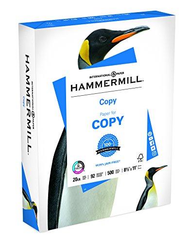 Price comparison product image Hammermill Paper,  Copy Paper Poly Wrap,  8.5 x 11 Paper,  Letter Size,  20lb Paper,  92 Bright,  1 Ream / 500 Sheets (180400R) Acid Free Paper