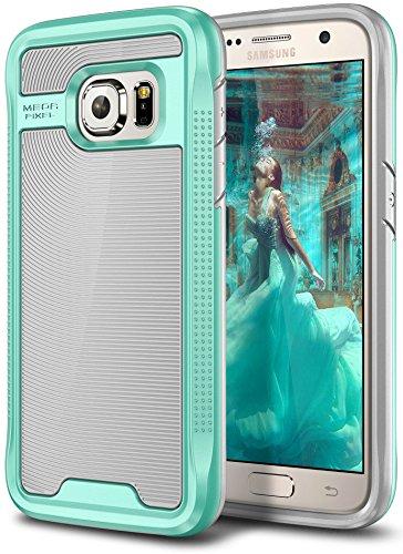 Galaxy S7 Case, E LV Galaxy S7 - Hybrid [Scratch/Dust Proof] Armor Defender Slim Shock-Absorption Bumper Case for Samsung Galaxy S7 - [Grey/Mint]