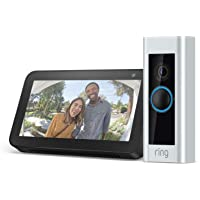Ring Pro Wi-Fi Enabled Full HD 1080p Video Doorbell With Night Vision (Satin Nickel) + Echo Show 5