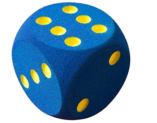 Volley 160 x 160 x 160 mm Foam Dice with Countersunk Dots (Blue) by Volley by Volley