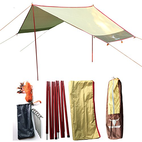 Outdoor Camping Hammock Hexagon Rainfly