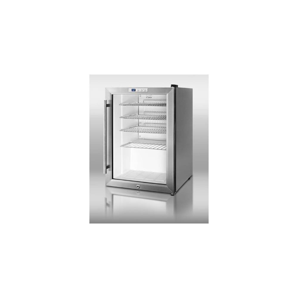 Summit SCR312LCSS Countertop Beverage Refrigeration, Glass/Stainless-Steel