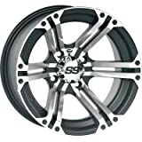 ITP SS ALLOY SS212 Black Wheel with Machined Finish (12x7''/4x137mm)