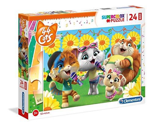 Clementoni- Maxi Puzzle 24 Piezas 44 Gatos, Multicolor (28500.6)