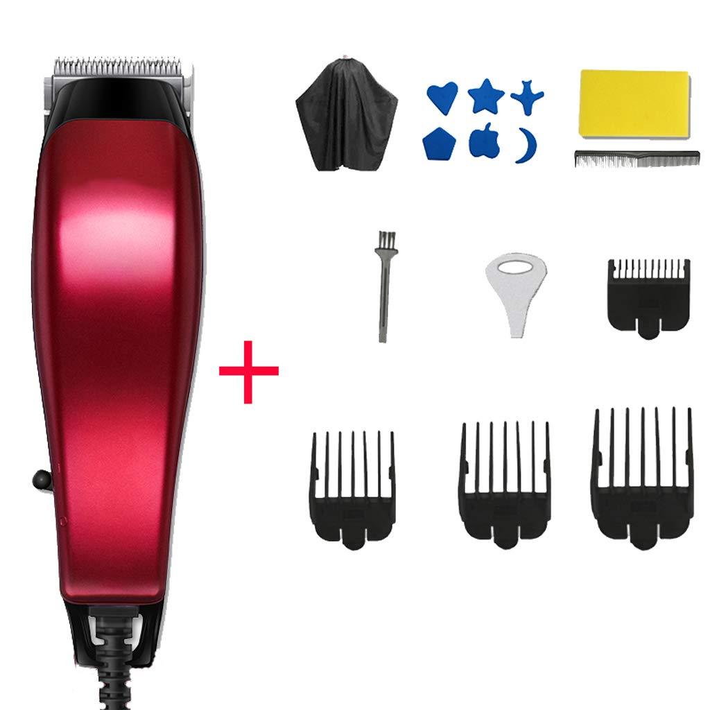 HM-Hair clipper Tagliacapelli con tronchesino fader per adulti parrucchiere rasoio barbiere tipo power plug-in dedicato (con linea 2 metri)