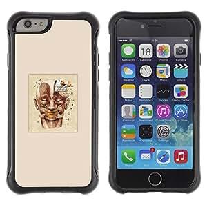 LASTONE PHONE CASE / Suave Silicona Caso Carcasa de Caucho Funda para Apple Iphone 6 / Drawing Poster Face Painting