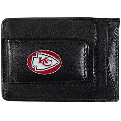 NFL Kansas City Chiefs Leather Money Clip Cardholder - Kansas City Chiefs Clip