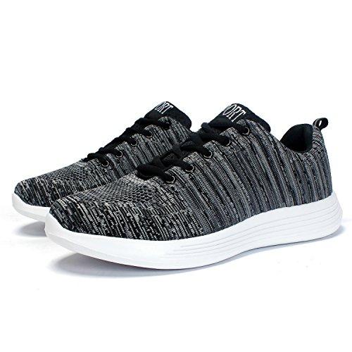 Marchant Hommes Chaussures Tricot Fitness Légères Sport Gym Leaproo En Gris Des Respirant De wS6BXBq4A