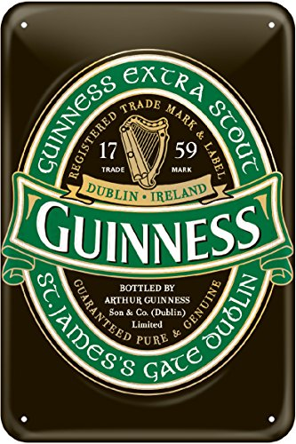 Guinness Metal Wall Sign (Ireland) by Guinness Official Merchandise