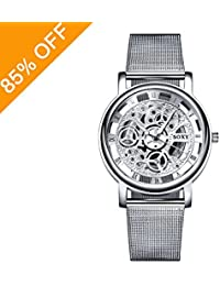 Daimon Men's Watches with Skeleton Face Wrist Watches for...