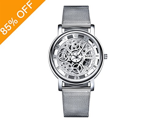 Daimon Men's Watches with Skeleton Face Wrist Watches for Men