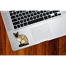 "Siamese Charming Cat Stained Glass Style - Trackpad | Tablet | Computer - Vinyl Decal Sticker © YYDC (2.25""w x 2.75""h) (COLOR CHOICES) (Siamese Cat)"
