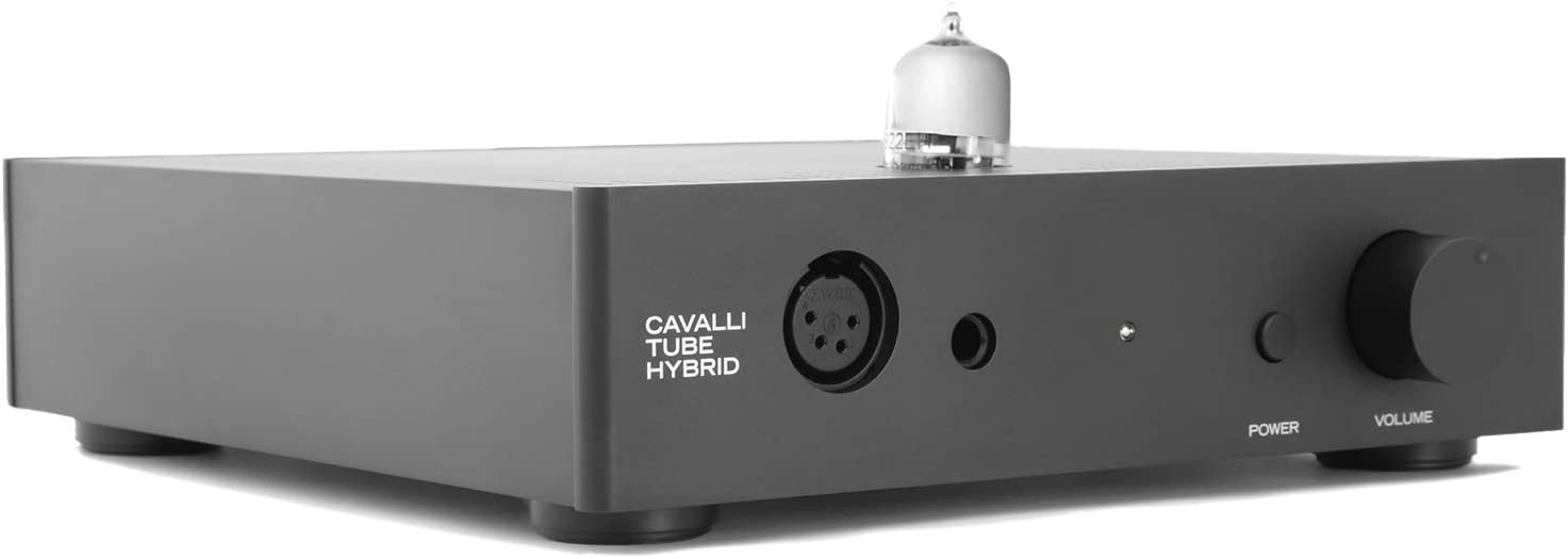 Massdrop x Alex Cavalli Hybrid Desktop Tube Amp - Audiophile Headphone Stereo Amplifier (CTH), 8.3 x 9.1 x 2.2 in, Black