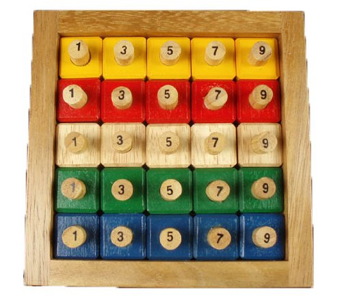 Wood Sized Jumbo Puzzles - Giant Puzzle - challenging logic & pattern puzzle 1888 design