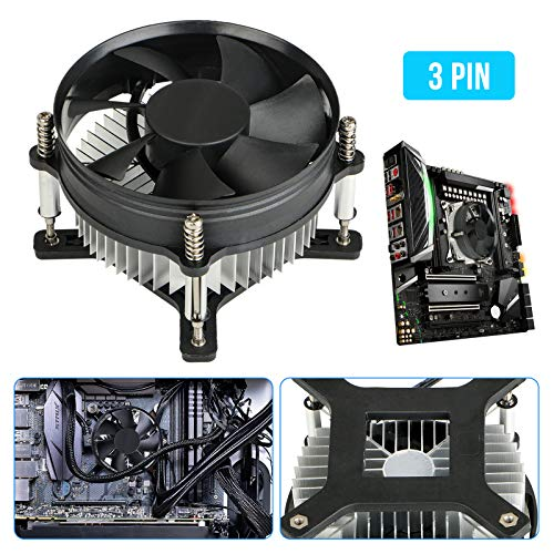 EEEKit 12V 2200RPM 3-Pin Cooling Fan Computer Case CPU Cooler for Intel LGA775 550/551/653