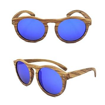 Las Gafas de Sol de Madera Redondas de la Moda de Las ...