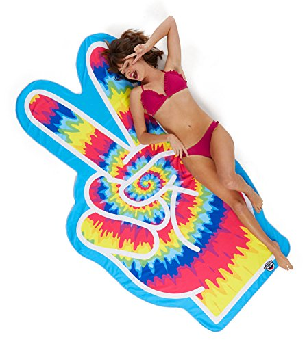 BigMouth Inc Gigantic Peace Sign Beach Blanket– Fun Beach Blanket Perfect for the Beach, Pool, Lake and More, Machine Washable (Peace Sign Sand)